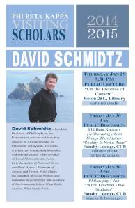 David Schmidtz 3 Event Agenda